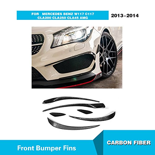 Universal Carbon Fiber Hood Scoop (For Mercedes Benz W117 C117 CLA200 CLA250 CLA45 AMG 2013 2014 MCARCAR KIT Front Side Lip Fins Real Carbon Fiber Car Moulding Trims Cover)