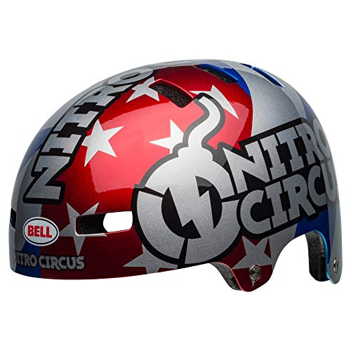 Bell 2019 Local Street Cycling Helmet (Nitro Circus Gloss Silver/Blue/Red - M) ()