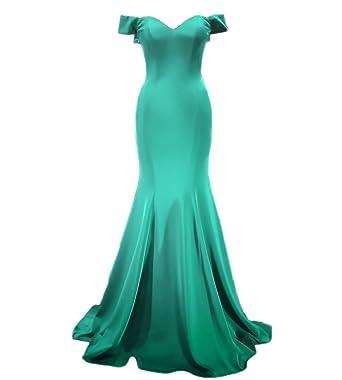 Engerla Womens Vintage Off Shoulder Mermaid Prom Dress Evening Bridesmaid Dress