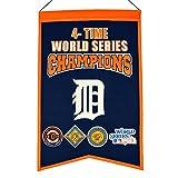 Winning Streak MLB Detroit Tigers 4 Time WS Champions Banner, One Size