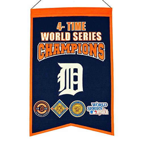 - Winning Streak MLB Detroit Tigers 4 Time WS Champions Banner, One Size