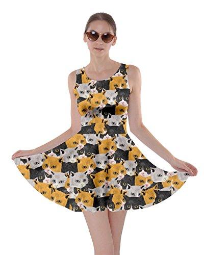 orange black and white dresses - 5