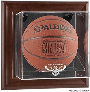 Atlanta Hawks Brown Framed Wall- Team Logo Basketball Display Case - Fanatics Authentic Certified - Basketball Logo Display Cases