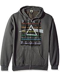 Men's Pink Floyd Dark Side Stamp Hoodie Zip Up Sweatshirt