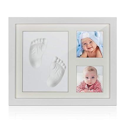 Jooheli - Marco de fotos para bebé con huella de mano y huella de ...
