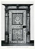 1927 Print Marquetry Inlaid Door National Museum Stockholm Sweden Wooden Veneer - Original Halftone Print