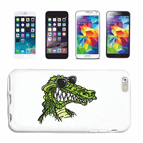"""cas de téléphone iPhone 6+ Plus """"CROCODILE ALLIGATOR HEAD GATORS"""" Hard Case Cover Téléphone Covers Smart Cover pour Apple iPhone en blanc"""