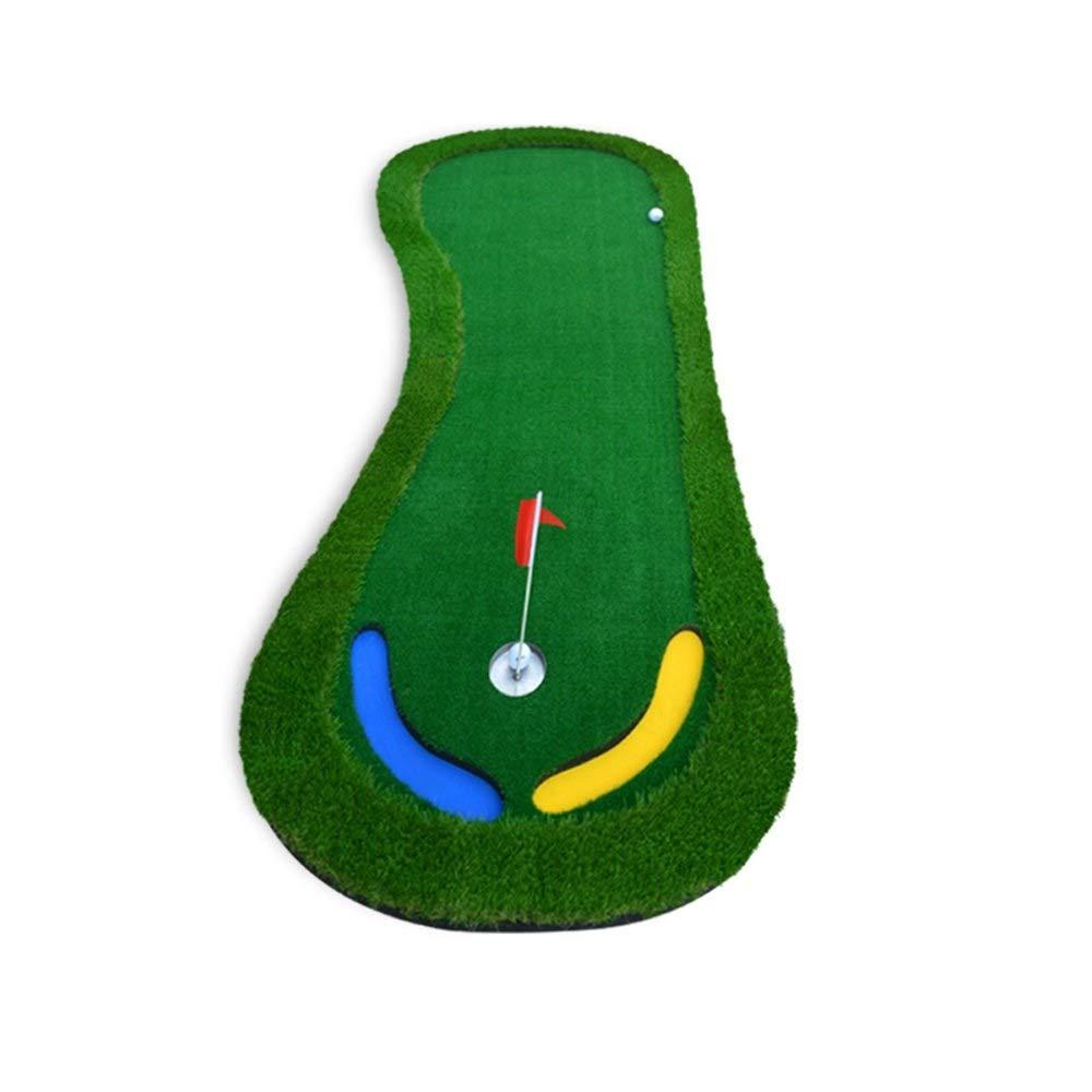 JKLL ゴルフ室内パッティンググリーン - バックスイング練習用マット、トレーニング - ゴルフ用具、シミュレータ、オフィス - ホールデザイン、サンドトラップ、グラスカーペット表面 B07S1FQ9C6