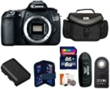 Canon EOS 60D SLR Digital Camera Body + Large Vidpro Camera and Lens Case (Black) + Extra High Capacity Lithium-Ion Battery Pack + Transcend 8 GB Class 10 SDHC Memory Card + Card Reader + Memory Card Case + Zeikos Shutter Release + Digital Camera Cleaning Kit., Best Gadgets