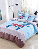 ZQ Fashion personality style Baolisi Bedding Sets 4pcs Queen Size Girls Korean Love Bed