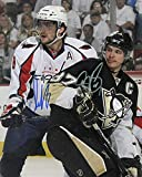 ALEX OVECHKIN & SIDNEY CROSBY Signed REPRINT 8x10