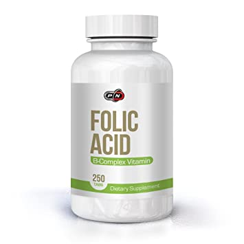 d268520c303 Pure Nutrition Folsäure 800 mcg 250 Portion Tabletten Kinderwunsch mit  Vitamin B12 Complex|Folic Acid Vitamin B9 Folate Pregnancy Schwangerschaft  ...
