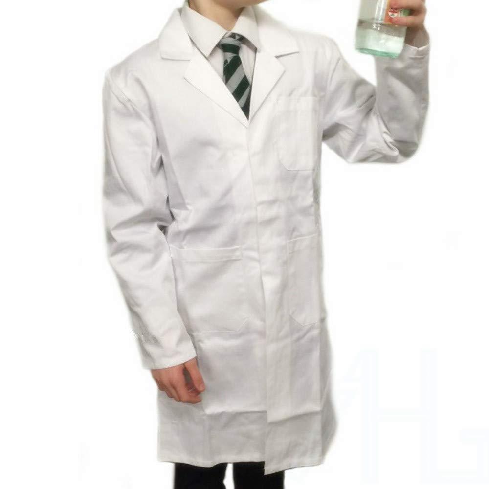 Kids White Lab Coat Science Boys Girls Children School Doctors Warehouse Age9-14
