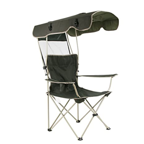 Fine Hmdx Outdoor Folding Camping Chair With Shade Canopy Sun Theyellowbook Wood Chair Design Ideas Theyellowbookinfo