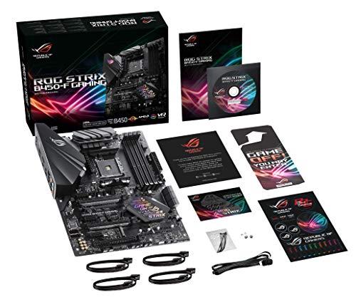 Asus ROG STRIX B450-F GAMING Scheda Madre, DDR4 a 3200 MHz, SATA 6 Gbps, HDMI 2.0, NVMe M.2, USB 3.1, Nero + ROG Strix…