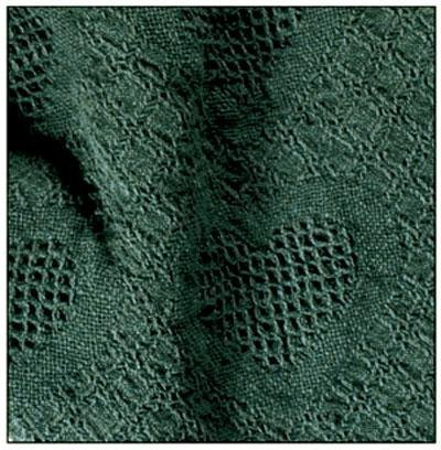 Simply Home Hunter Green Honeycomb Heart Afghan Throw Blanket 48