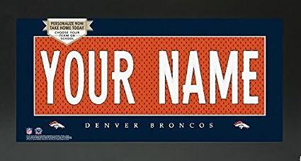 9d146db19 Image Unavailable. Image not available for. Color  Denver Broncos NFL  Custom Jersey Nameplate Framed Sign