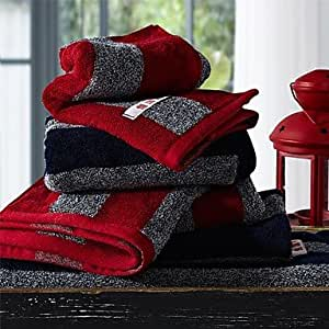 Amazon.com: FPP 3pcs Hand Towels Pack, Black or Red Stripe
