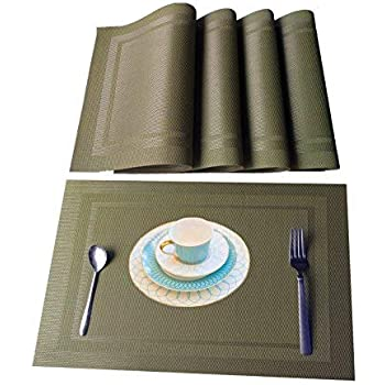 Amazon Com Wangchao Placemats Eco Friendly Colorful Plaid