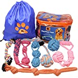 Dog Toys - 8 Extra Large Dog Rope Toys - Dog Chew Toy for Medium and Large Dogs - Set of Dog Rope Toys for Chewing, Tug of War and Teething with Bonus Storage Bag
