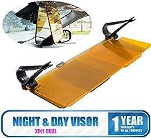 Protection Driving MASO Anti-Dazzle Sunshade Mirror 2 in 1 Universal HD Car UV Anti-Glare Day /& Night Vision Universal Flip Down Shield Sun Visor Set Night Driving Glasses Improves Contrast