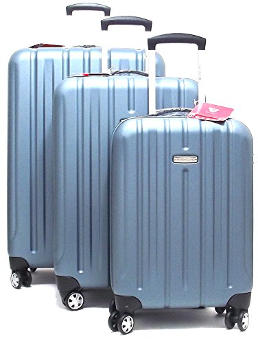 Roncato set tre trolley viaggio, Kinetic 409860-43, trolley cabina+trolley medio+trolley grande rigidi in policarbonato, colore blu artico, chiusura TSA