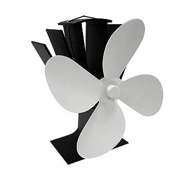 L 4 Aspas, Ventilador de Estufa para Madera, Accesorios de Quemador de Madera para Cacerola de Madera: Amazon.es: Hogar