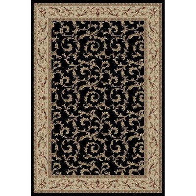 Concord Global Trading Concord Global Jewel Ivy Area Rug - 3'11 x 5'7 Black/Beige from Concord Global Trading