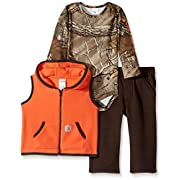 Carhartt Baby Little Boys' Sets, Dark Brown Vest, 6M