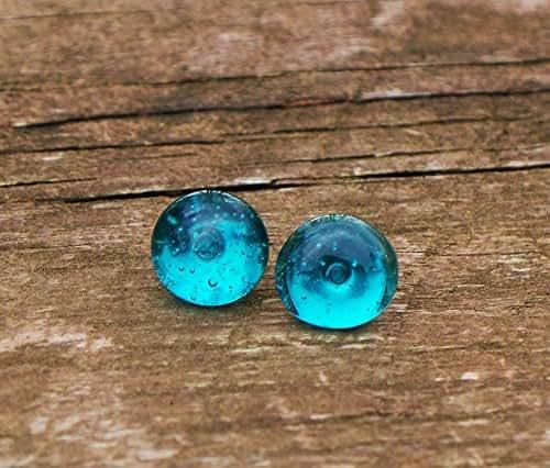 Recycled Vintage Mason Jar Simple Post Earrings
