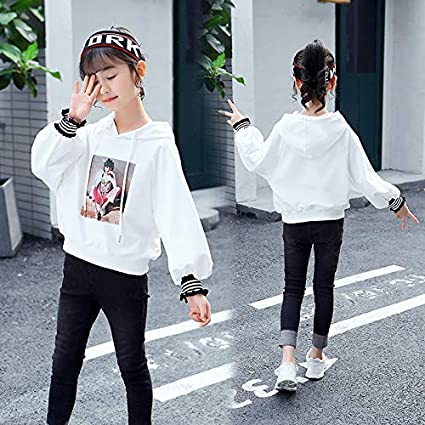 MV Sweater Children Spring and Autumn Beauty Printing Primary School Girl Hoodies