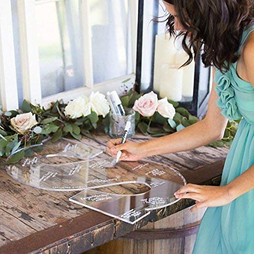 (CLEAR Wedding Guest Book Monogram Letter Sign - 22