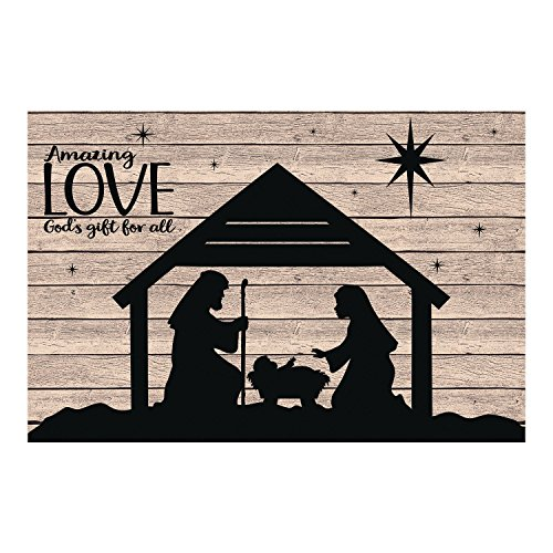Outdoor Lighted Manger Set - 6