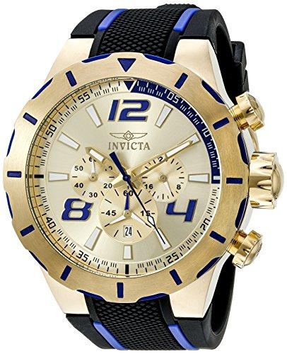 Invicta Men 20107 S1 Rally Analog Display Japanese Quartz Black Watch
