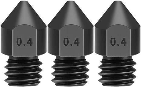 Aibecy Boquillas de acero endurecido de 3 piezas 0.4 mm para ...