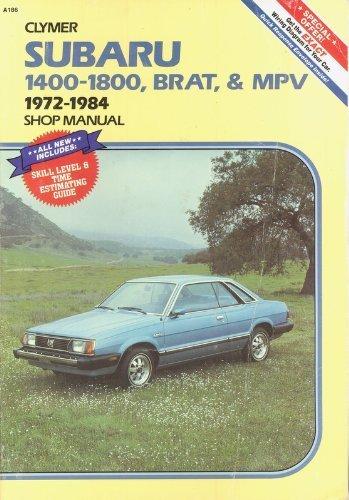 - Subaru 1400-1800, Brat, and Mpv 1972-1984 Shop Manual