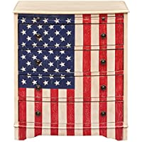 American Flag Accent Drawer Chest