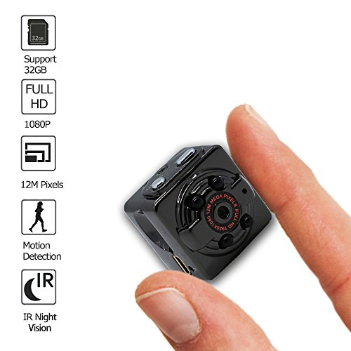 Hidden Camera, Spy Camera HD 1080P Mini Spy Camera Nanny Cam with Motion Detection Night Version Loop Recording Up to 32GB TF Card