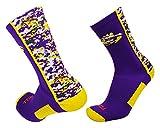 LSU Digital Camo Crew Socks (Purple/Gold/White, Small)
