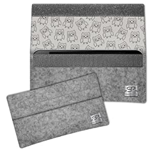 SIMON PIKE Cáscara Funda de móvil NewYork 11 gris Samsung Champ Deluxe Fieltro de lana