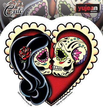 Cali Ashes Red Heart - An Embracing Couple - 4.75