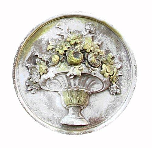 OrlandiStatuary Flower Bouquet Plaque Statue, 26″, White Moss For Sale