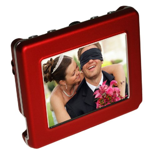 Digital Foci PAD-280 Deluxe OLED 2.8-Inch Pocket Album Digital photo viewer (Red)