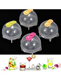 Access 4Pcs Plastic Round Ice Cube Ball Brick Freeze Tray Sphere Molds saleoff