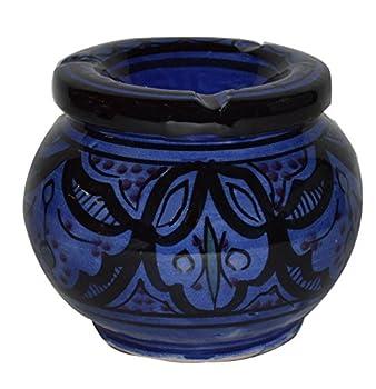 Ceramic Ashtrays Hand Made Smokeless Large Moroccan