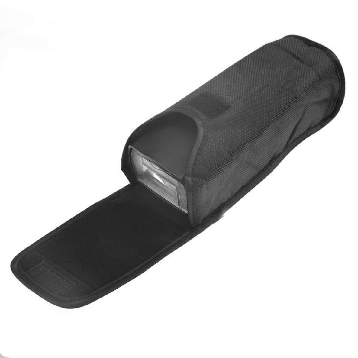 Nero Nero Custodia per flash custodia per fotocamera portatile universale Custodia protettiva Scatola diffusore flash per SB800 SB900 SB910