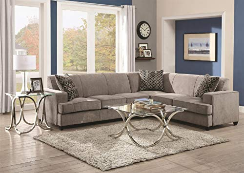 Asian Sectional Sofa (Tess Sectional Sofa for Corners Grey)