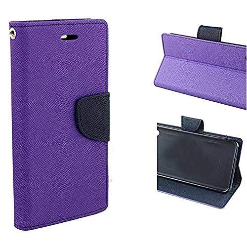 fancyart mercury magnetic lock wallet style Flip Cover Case for samsung galaxy a9 pro   purple