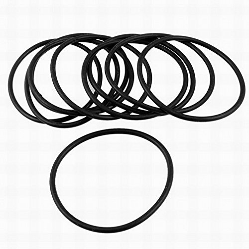 2.5x50mm Black Nitrile Rubber Sealing O Ring Seal Grommets 10Pcs by Fuxell