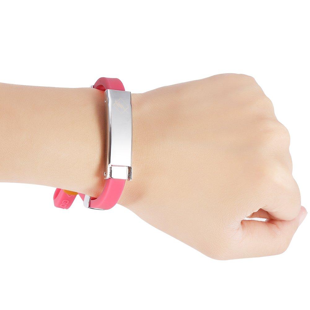 Wodend Bracelet anion bracelet antistatique bande anti-statique bracelet de soins de sant/é 3 couleurs